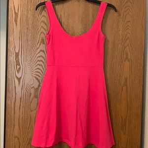 Hot Pink Mini/Skater Dress